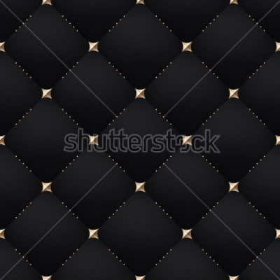 Carta da parati Seamless luxury dark black pattern and background. Vector Illustration