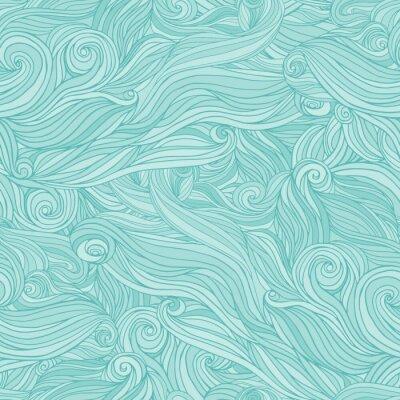 Carta da parati Seamless modello astratto, groviglio di sfondo capelli ondulati