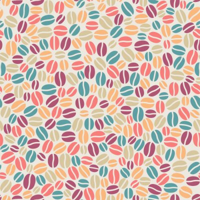 Carta da parati seamless pattern caffè