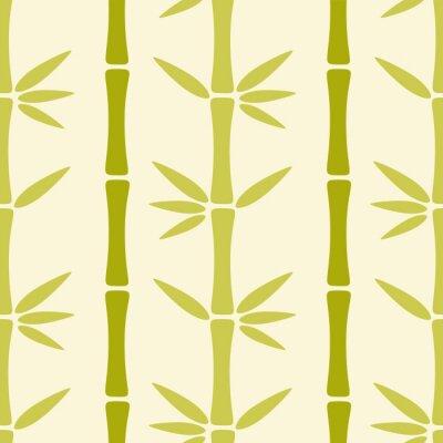 Carta da parati Seamless pattern con alberi di bambù