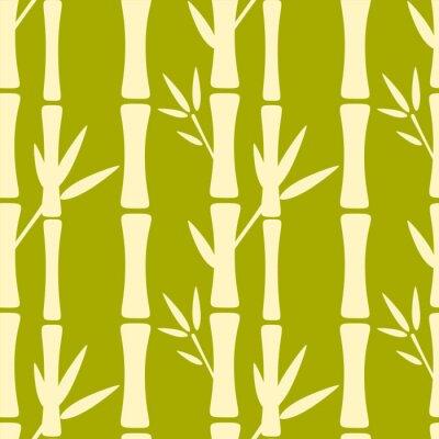 Carta da parati Seamless pattern con alberi di sagome di bambù