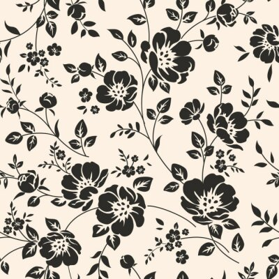 Carta da parati Seamless pattern con fiori.