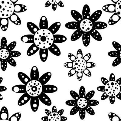 Carta da parati Seamless pattern floreale