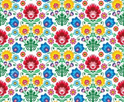 Carta da parati Seamless pattern floreale polish - etnica