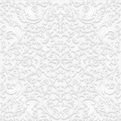 Carta da parati Seamless pattern floreali in stile tradizionale