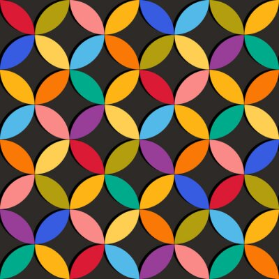 Carta da parati Seamless pattern geometrici con elementi colorati