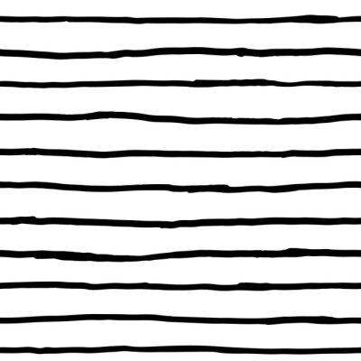 Carta da parati Seamless pattern - inchiostro linee orizzontali