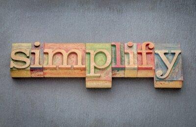 Carta da parati semplificare la parola nel tipo di legno