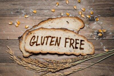 Carta da parati Senza glutine logo alla griglia su pane