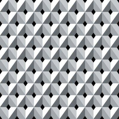Carta da parati Senza soluzione di continuità modello 3d diamanti geometriche.
