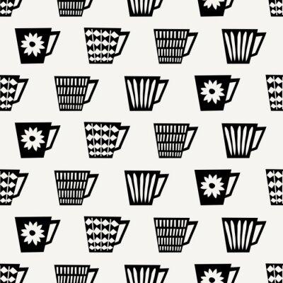 Carta da parati Senza soluzione di continuità tazze di caffè pattern