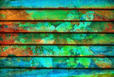Carta da parati serie ritmica di legno linee colorate