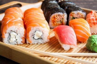 Carta da parati set sushi giapponese