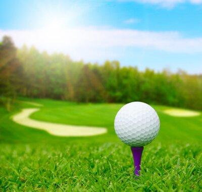 Carta da parati Sfera di golf sul corso