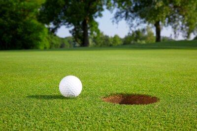 Carta da parati Sfera di golf sul green