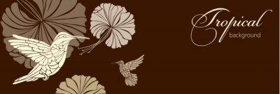 Carta da parati sfondo astratto con fiori