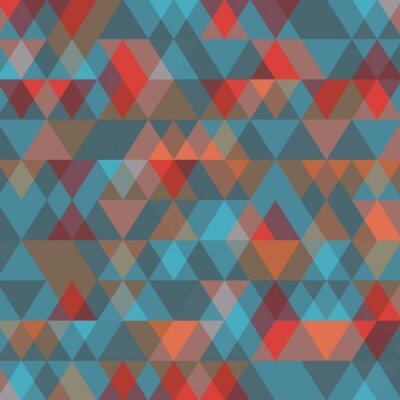 Carta da parati Sfondo astratto con triangoli. Illustrazione vettoriale.