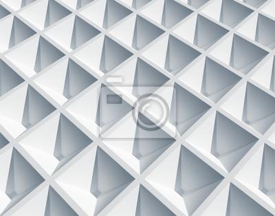 Carta da parati Sfondo astratto di architettura. Bianco superficie quadrata cellulare
