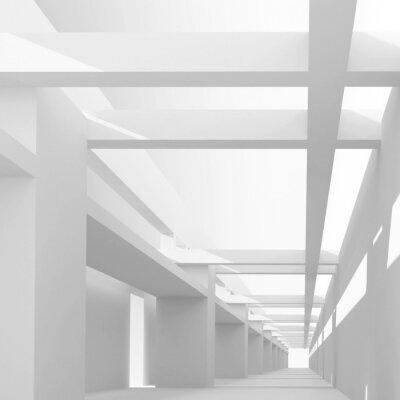 Carta da parati Sfondo astratto di architettura con 3d vista della prospettiva emp