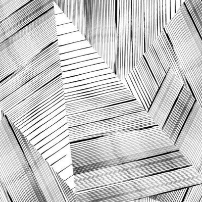 Carta da parati Sfondo astratto disegno geometrico, con colpi e schizzi