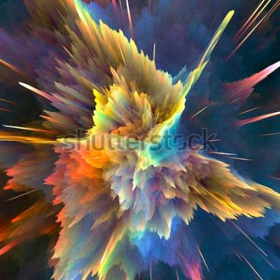 Carta da parati Sfondo astratto esplosione colorata. Primo piano, illustrazione ad alta risoluzione per la tua brochure, flyer, disegni di banner e altri progetti. Effetto di illuminazione di esplosione. Illustrazion