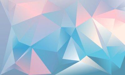Sfondo Astratto Triangolo Colore Azzurro Rosa E Bianco Carta Da