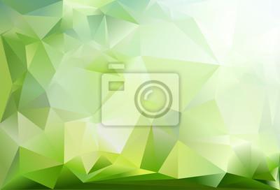 Sfondo Astratto Triangolo Verde Scuro Verde Chiaro E Colore Carta