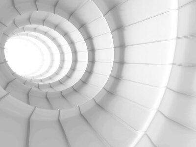 Carta da parati Sfondo bianco Abstract tunnel design