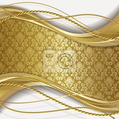 Sfondo Bianco E Oro Carta Da Parati Carte Da Parati Cordone Corda