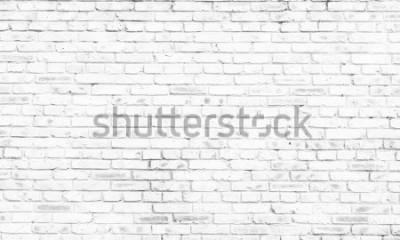 Carta da parati sfondo bianco muro di mattoni nella stanza rurale,