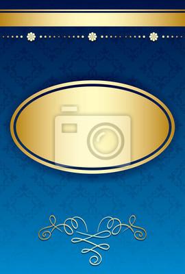 Sfondo Blu Con Gradiente E Oro Decorazioni Vettore Carta Da Parati