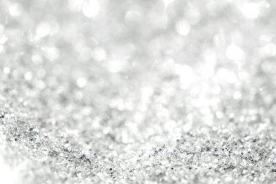 Carta da parati Sfondo d'argento di luci astratte defocused. Luci d'oro bokeh.