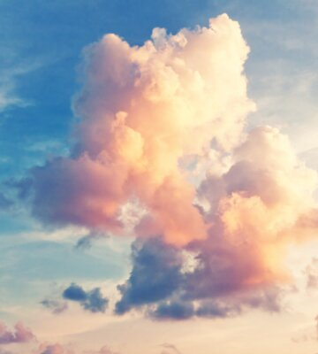 Carta da parati sfondo del cielo soleggiato in stile vintage retrò