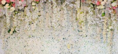 Carta da parati sfondo di fiori. decorazione di nozze sullo sfondo. Modello rosa Fiore di muro, sfondo colorato, rosa fresca