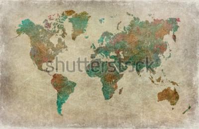 Carta da parati sfondo di mappa del mondo vintage