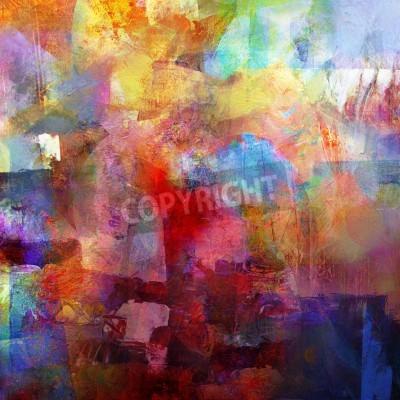 Carta da parati sfondo dipinto astratto - creato combinando diversi strati di vernice