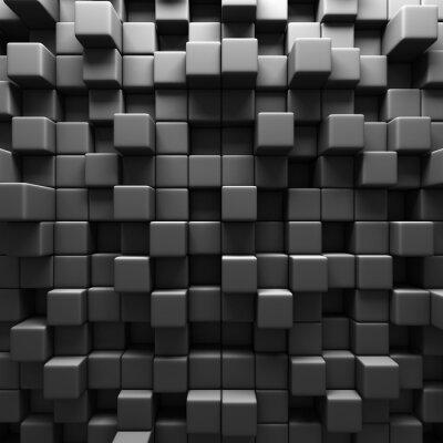 Carta da parati Sfondo Grigio Scuro blocchi Cube parete