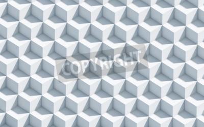 Carta da parati sfondo in bianco e nero 3d con cubetti, arte, concetto, fondo