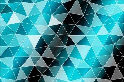 Carta da parati Sfondo luminoso per biglietti di auguri. Poligono sfondo nero, colore blu. Illustrazione vettoriale. Attuare le vostre idee di progettazione, soggetti di affari, presentazioni di successo.