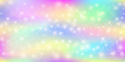 Carta da parati Sfondo magico olografico con fata scintille, stelle e sfocature.