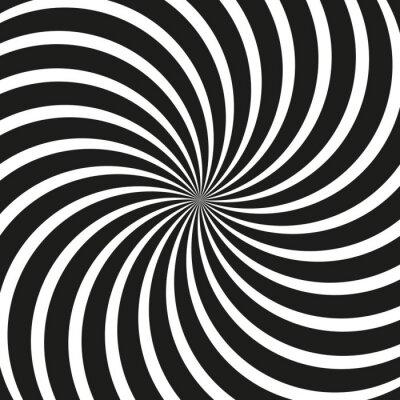 Carta da parati Sfondo Op Art spirale di turbinio
