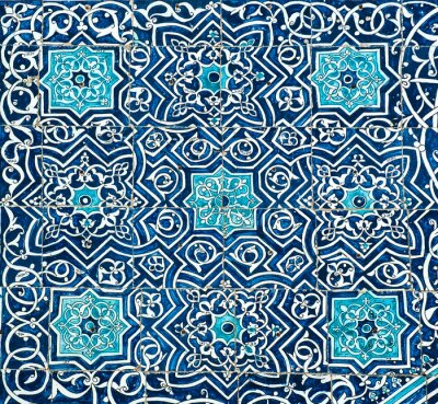 Carta da parati Sfondo piastrellato con ornamenti orientali