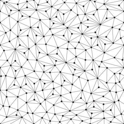 Carta da parati Sfondo poligonale, senza soluzione di modello, linee e cerchi
