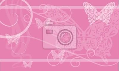 Sfondo Rosa Con Farfalle Carta Da Parati Carte Da Parati Myloviewit