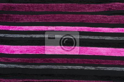 Carta Da Parati Rosa A Strisce : Sfumature di strisce rosa modello su velluto nero tessuto di carta