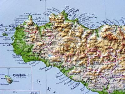 Sicilia Occidentale Cartina Stradale.Sicilia Occidentale Carta Da Parati Carte Da Parati Caltanissetta Pantelleria Marsala Myloview It