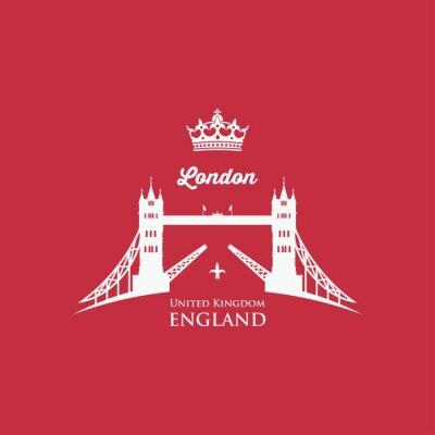 Carta da parati simbolo London Tower Bridge