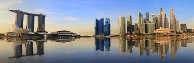 Carta da parati Singapore skyline panorama del mattino