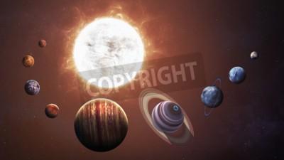 Carta da parati sistema e lo spazio oggetti solari. Elementi di questa immagine fornita dalla NASA