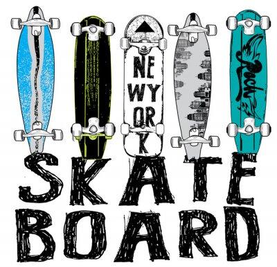 Carta da parati Skate bordo di tipografia, grafica t-shirt